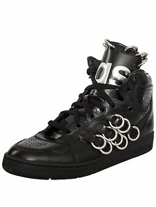 Adidas Originals Jeremy Scott Black Leather Instinct Hi Ring Shoes B26033 New