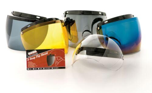 ECHO 3 Snap Flip Shield Universal Adjustable Snaps Anti-Scratch Open Face Half