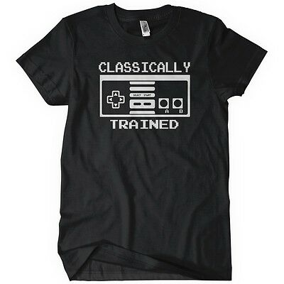 CLASSICALLY TRAINED CONTROLLER Mens T-Shirt Funny Cotton Adult Tee Sizes S-5XL