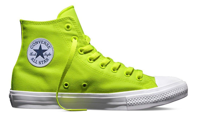 Converse Men's Chuck Taylor II Hi All Star Multip Sizes, 150157C Volt Green Whit