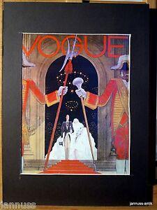 alte-Reklame-Druck-hinter-Passepartouts-80er-Vogue-36x26-cm-883