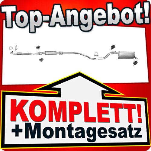 Auspuff OPEL CORSA D 1.0 12V Schrägheck ab 07.2006 Auspuffanlage J30