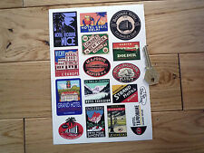 Vintage Style Luggage Label Travel STICKER Set Holiday Scrap Booking Card Making
