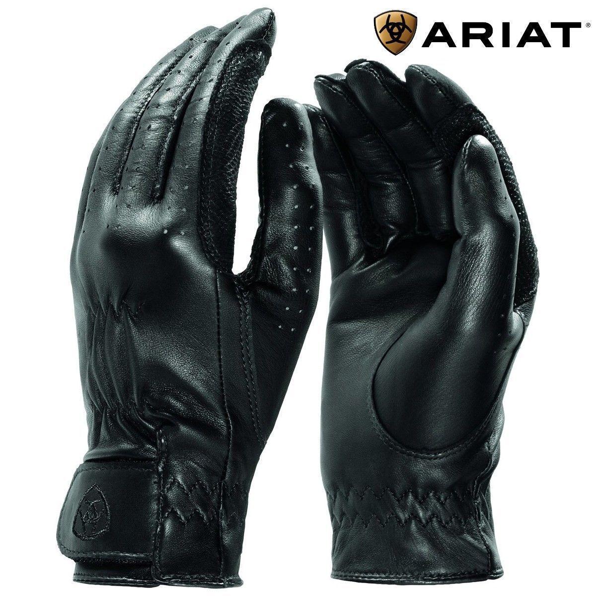 Ariat Pro Grip Guanti in Pelle Nero Taglia 7cm o piccoli Equitazione Show Concorso