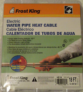 New Frost King Water Pipe Heat Cable 18 Hc18 Electric No