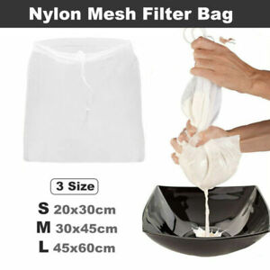 Details About 1pc Nylon Straining Bag Reusable Wine Strainer Cheese Jelly Making Homebrew
