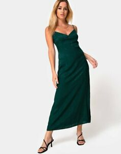 MOTEL-ROCKS-Gaela-Slip-Dress-in-Satin-Cheetah-Forest-Green-Small-S-mr46