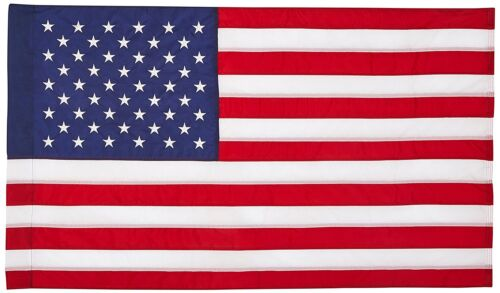2x3 United States Embroidered Sewn Flag 2/'x3/' House Banner Pole Sleeve 210 Nylon