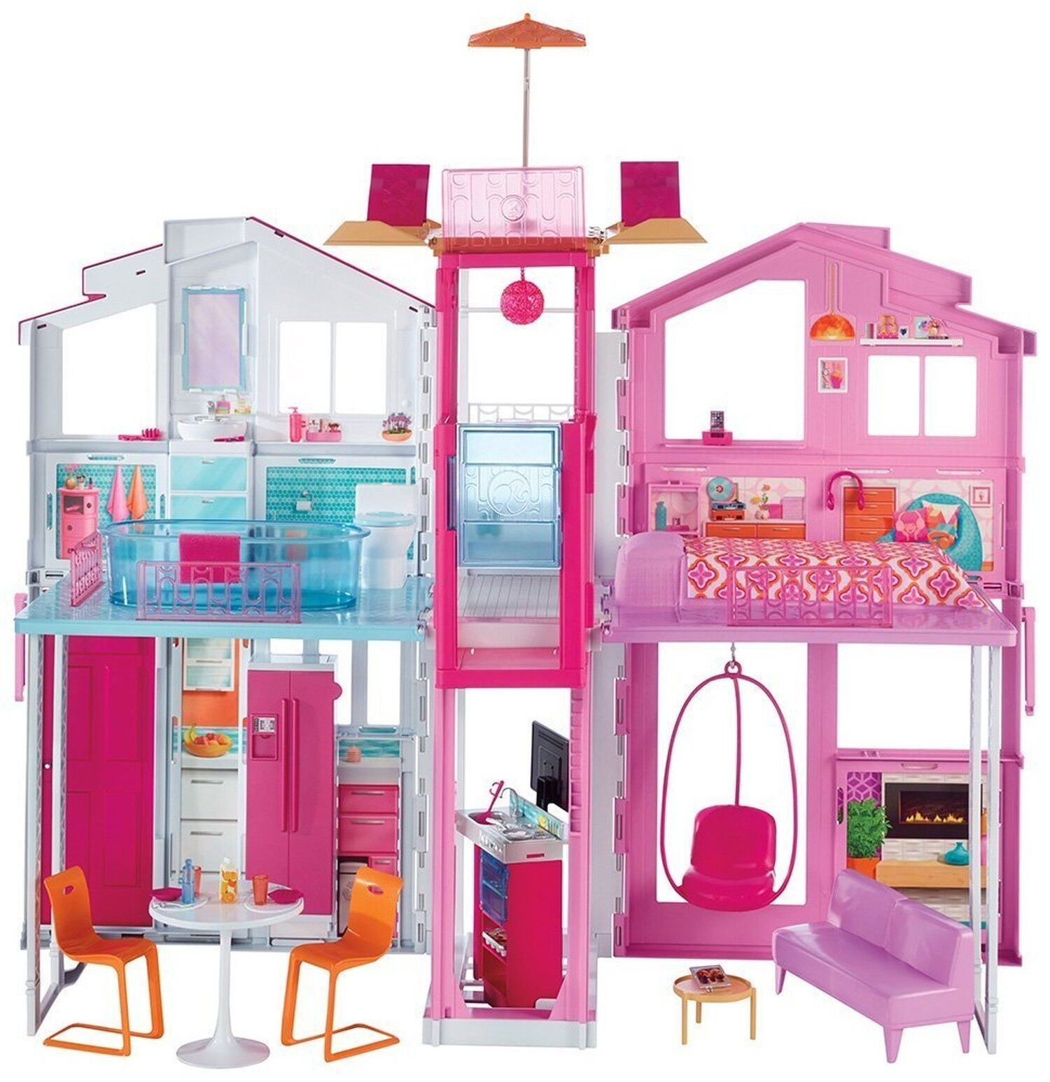 Barbie DLY32 TRE PIANI TOWNHOUSE Playset