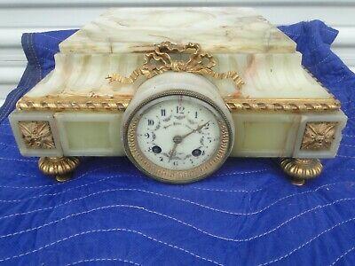 Antique Bailey Banks Biddle Philadelphia Onyx Bronze Plateau Clock Ebay