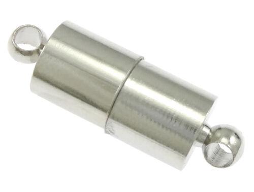8x cierre magnético de 20 x 6 mm joyas de plata para pulsera collar Mode m225#2
