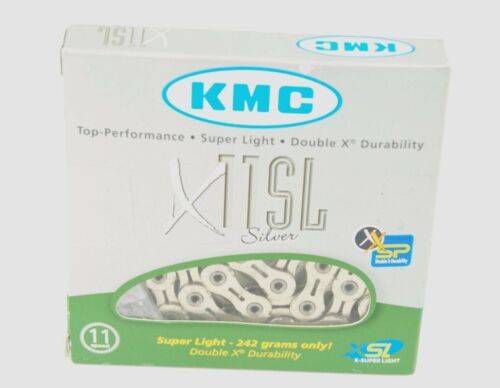 KMC X11SL 11 Speed Road Bicycle Chain-SILVER-116 Link-Road//Mountain New