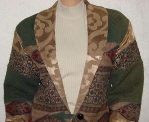 Flashback-Elegant-Size-M-Western-Tapestry-Jacket-Bust-40-42-034-Quilted