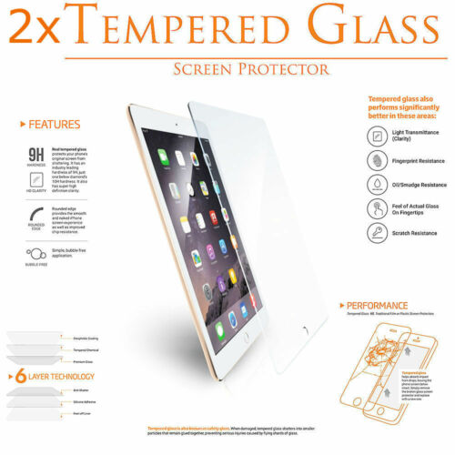 2x Premium 9H iPad Mini Air or Pro Tempered Glass Screen Film Protector