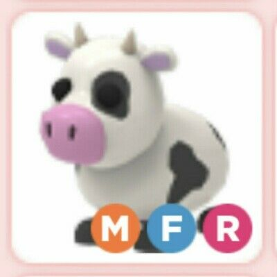 Roblox Adopt Me Mega Neon Fly Ride Fr Cow Pet W Purchase Of Sealy The Seal Ebay