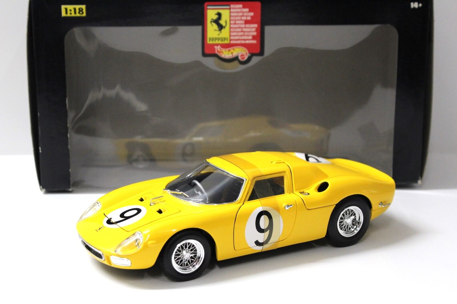 1 18 Hot Wheels Ferrari 250 LM yellow NEW bei PREMIUM-MODELCARS