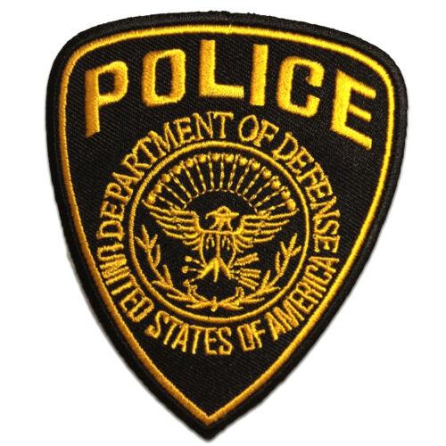 Police Polizei Logo gelb Aufnäher // Bügelbild 7,5 x 9,3 cm