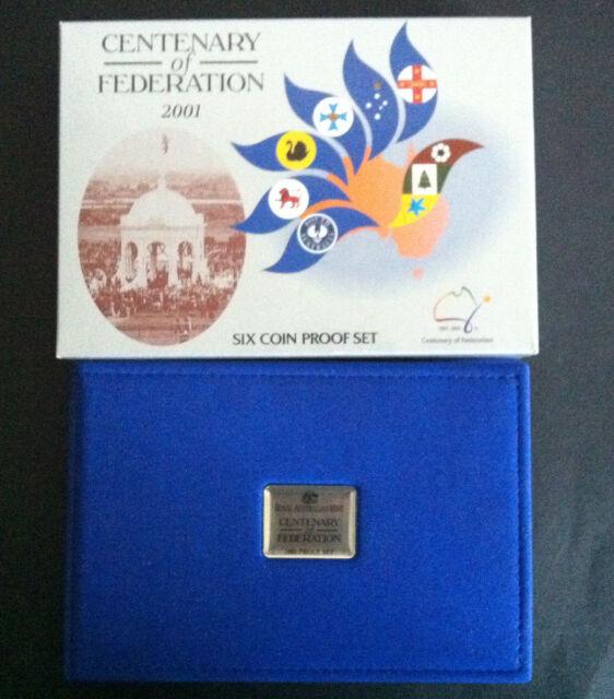 2001 RAM CENTENARY OF FEDERATION 6 COIN PROOF SET