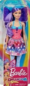 Barbie-Dreamtopia-Fairy-Doll-11-5-034-Purple-Hair-with-Wings-and-Tiara-for-OOAK