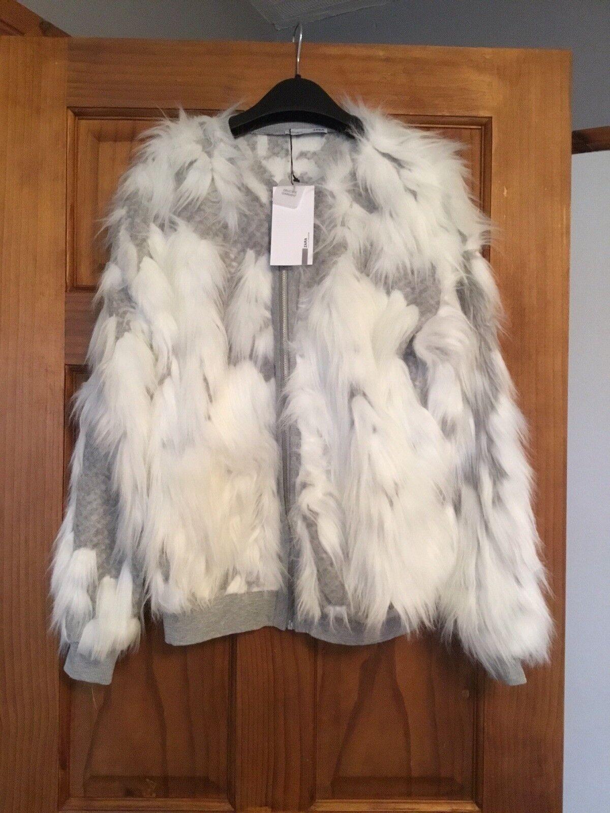 Zara Texturé Jacquard Veste Taille S Très Rare