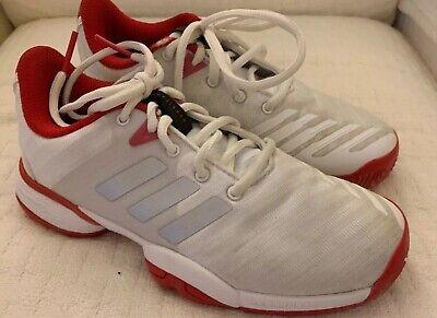 Adidas Kids Barricade Unisex Tennis Sneakers Girls Boys White Red &Silver Sz 2.5   eBay