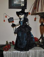 NEW LUXE HABITAT WITCH Wicca Prim Style Doll Halloween Primitive Folk Art Mask