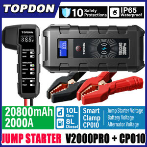 20800mAh USB Car Jump Starter Pack Booster Battery Charger Power Bank 2000A PRO