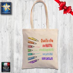 Idee Regalo Maestre Natale.Details About Shopper Bag Cotton Teacher Nest Nursery School Christmas Gift Year End Show Original Title