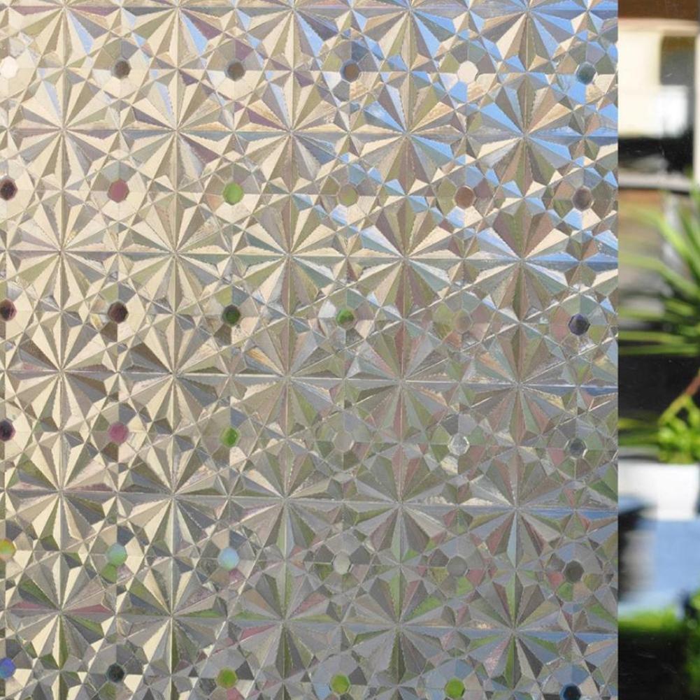 3D Statica Ghiacciata Casa Privacy Adesivo Pellicola Finestra Vetrata Coloreeata