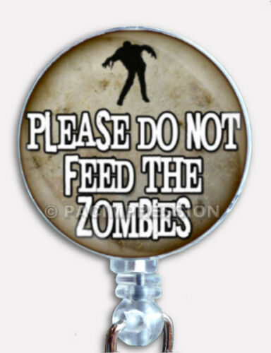 Badge Reel Retractable ID Name Card Holder Dead Evil Walking Zombies Hunter