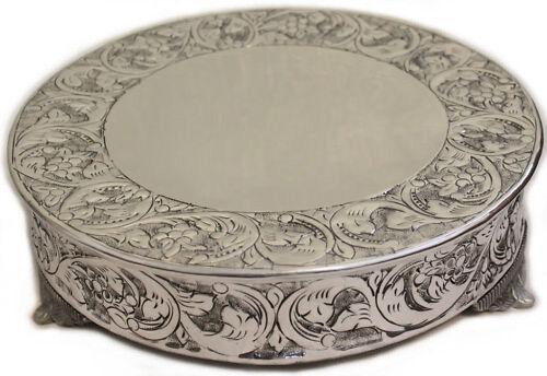 Wedding Supplies Grand Silver, Silver Round Cake Plateau