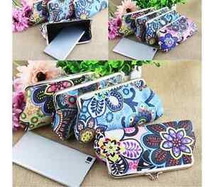 3e6709a9e49e6 Das Bild wird geladen Tasche-Geldboerse-Clutch-Blumen-bunt-Tasche-mini- gemustert-