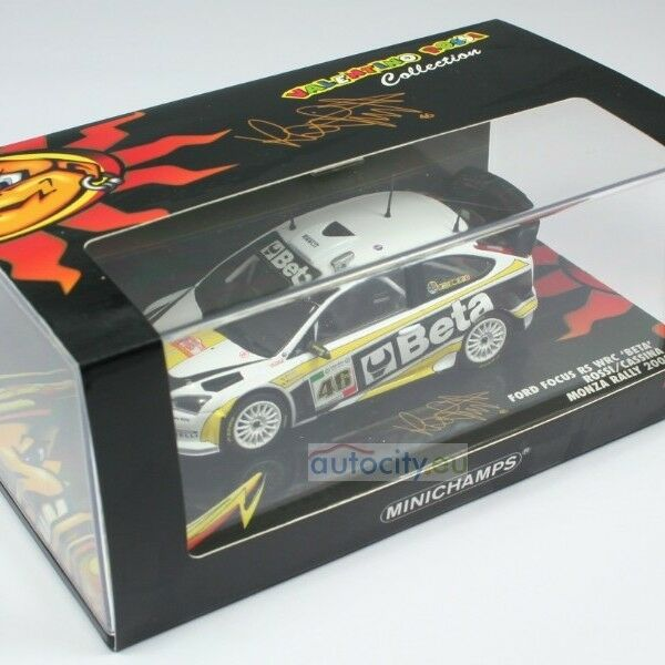 MINICHAMPS FORD FOCUS RS  WRC 'BETA' ROSSI CASSINA MONZA RALLY 400088946