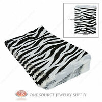 100 Zebra Print Gift Bags Merchandise Bags Paper Bags 5x 7