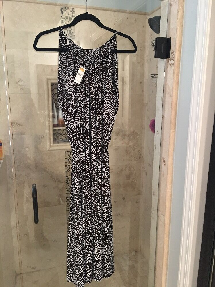 NWT  New Jersey TALBOTS schwarz Weiß Nautical Sleeveless Belted Dress 6