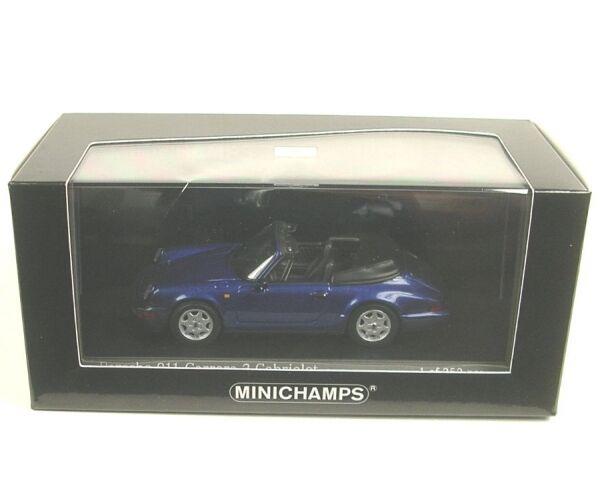 Porsche 911 Carrera 2 Cabriolet (bleu de cobalt métallique) 1990 métallisé)