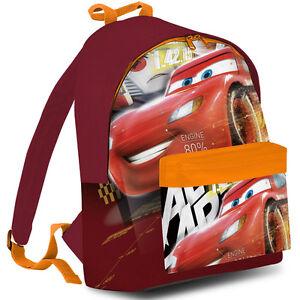 b85f73870e Caricamento dell'immagine in corso Zaino-americano-Cars-Auto-Disney-Colore- Rosso-Bambine-
