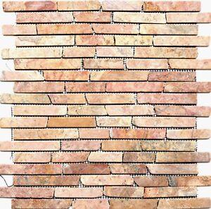 Marmormosaik-Verbund-uni-Rossoverona-Fliesenspiegel-Kueche-Art-40-0145-10Matten