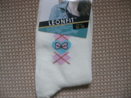 Ladies//Girls cotton socks by Leonfit sizes 3-5 or 5-7 small bows /& crosses
