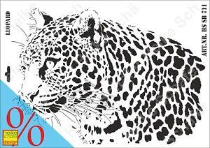 Schablone-Stencil-A3-142-0711-Leopard-Neu-Heike-Schaefer-Design