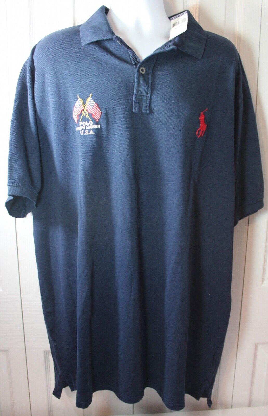 Polo Ralph Lauren 2XLT EAGLE American Flag Polo Shirt NWT MSRP