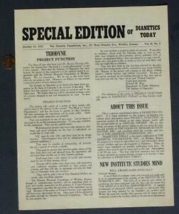October,1953 L.Ron Hubbard Church of Scientology Dianetics ...