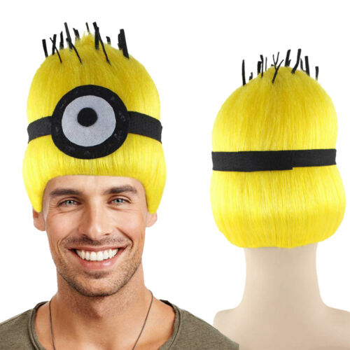 Yellow Trolls Wig for Cosplay Despicable Me Minions Carl Party Costume HM-333
