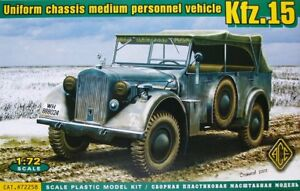 Ace-1-72-Kfz-15-Uniforme-Chasis-Medio-Personal-Vehiculo-72258