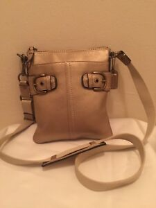 3fc65b59 Details about Coach Soho #41276 Gold Leather Swingpack Mini-messenger Purse  crossbody Bag