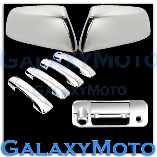 07-13 TUNDRA CREWMAX HALF Mirror Chrome ABS 4 Door Handle+Tailgate Camera Cover