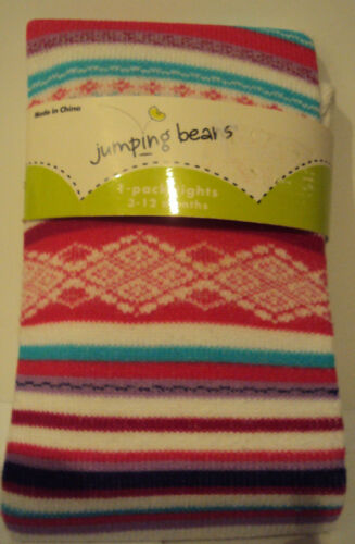 Girls Jumping Beans Brand Sweater tights Various Colors Size  3-12M 12-24M