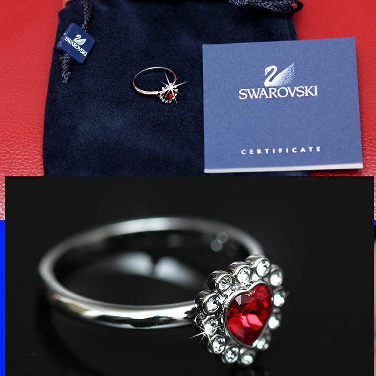 SWAROVSKI Ladies RUBY CRYSTAL RING w  Certificate (8)