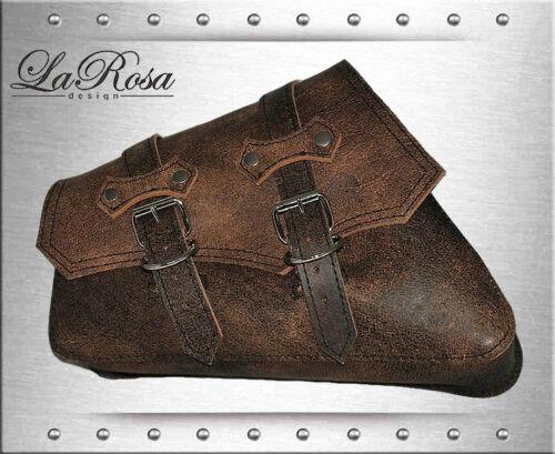 La Rosa ClaSick Rustic Brown Leather Harley Sportster Nightster Left Saddlebag