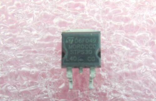 Qty.5 ST Micro Dual 2x15A//40V Schottky Diode STPS30L40CG D2PAK